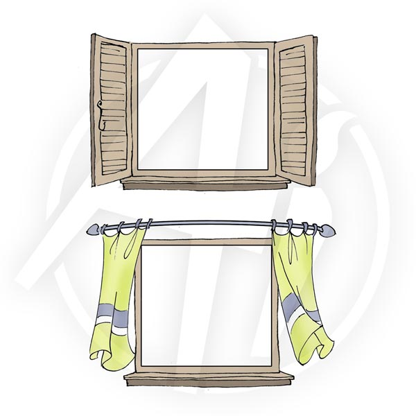 Curtain Window - 4234