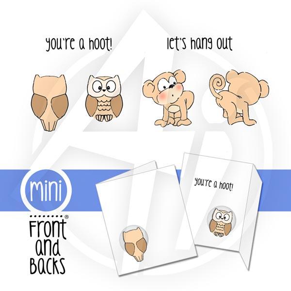 Owl & Monkey Mini Set - 4405