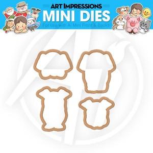 Elephant & Pig Mini Dies - 4540