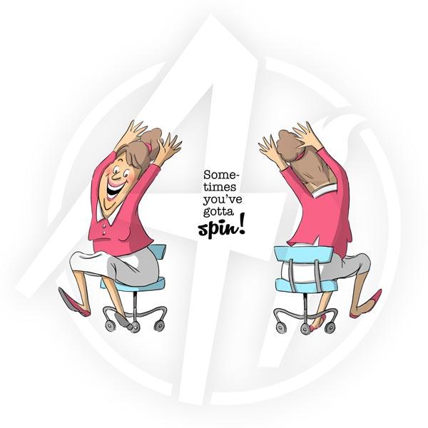 Chair Spinner - 4574