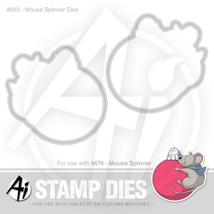 Mouse Spinner Dies - 4693