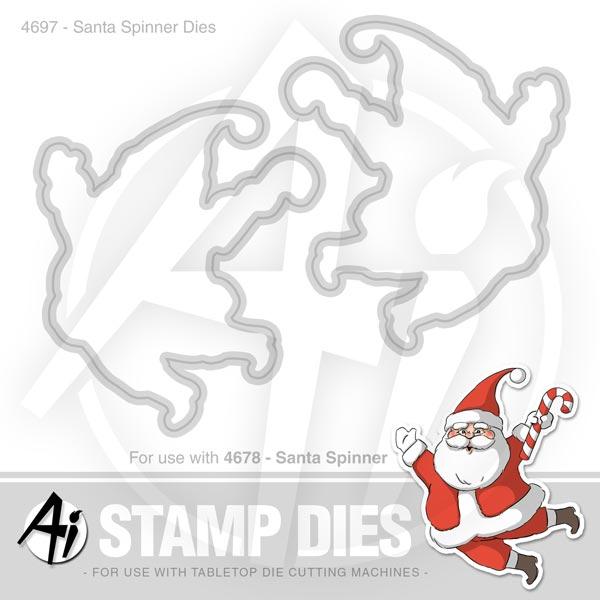 Santa Spinner Dies - 4697