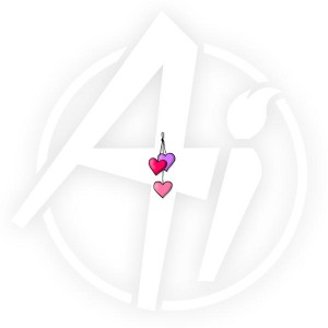 Hearts on a string - E3315
