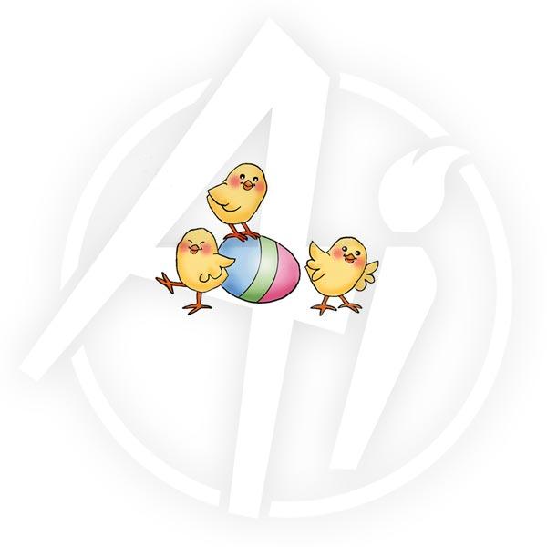 Easter Chicks Lg - I4024