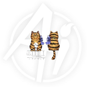 Tabby Cat Front & Back - L1520