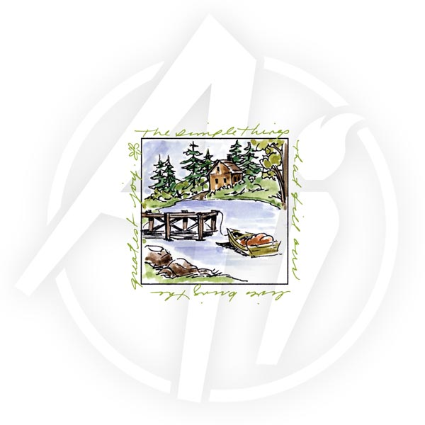Lake House Window - M3176