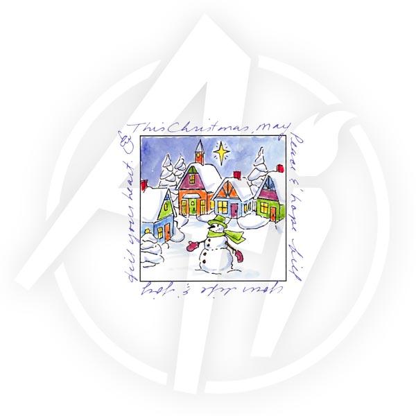Christmas Village Window - M3184