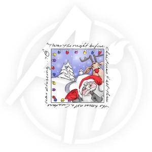 Santa Window - M3185