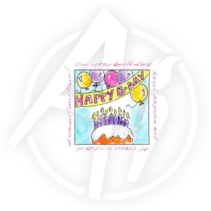 Birthday Banner Window - M3198