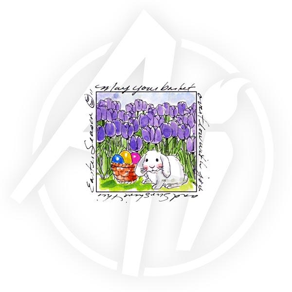 Bunny in Tulips - M3311