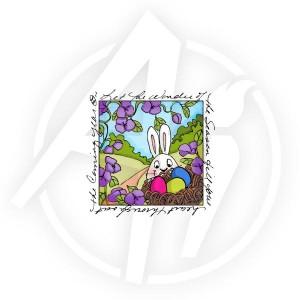 Easter Egg Nest Window - M3313