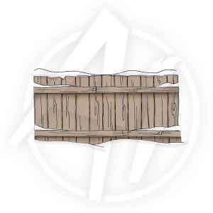 Snowy Fence - P1808