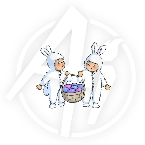 Basket Bunnies - Q4021