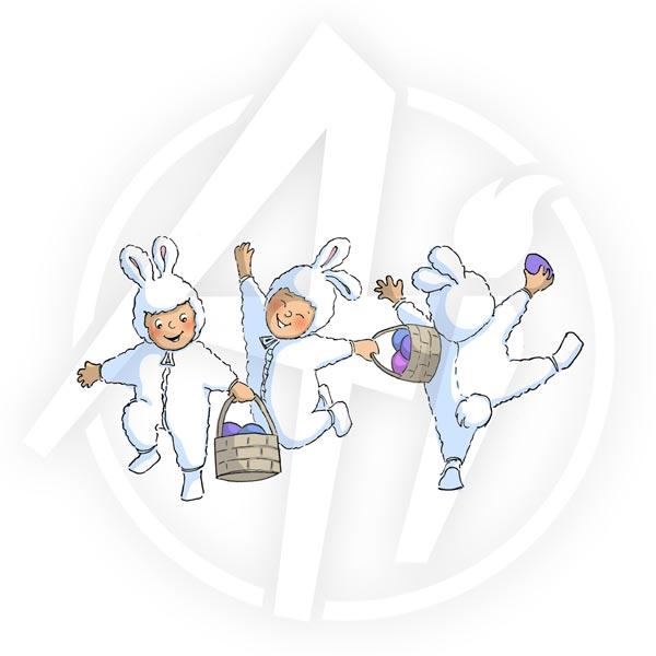 Dancing Easter Tots - T4019