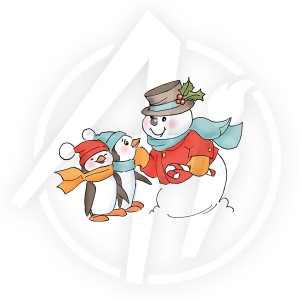 Snowman & Penguins - T4172