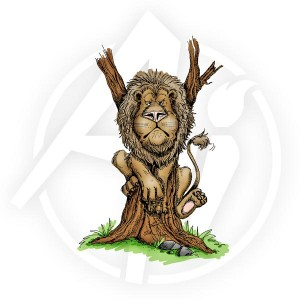 Lion Up a Tree - U1187