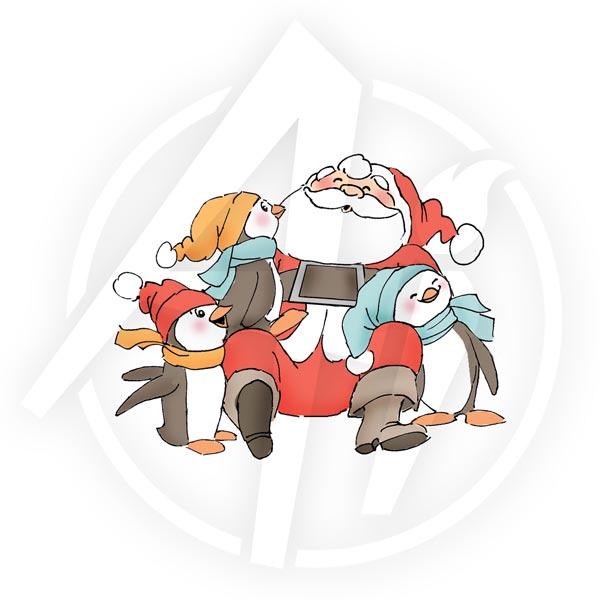 Santa & Penguins - U4170