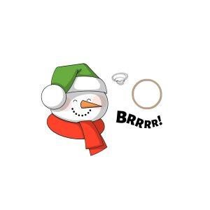 Snowman Mini Shaker