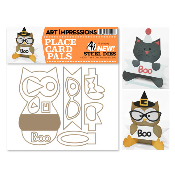Cat & Owl Placecard Set