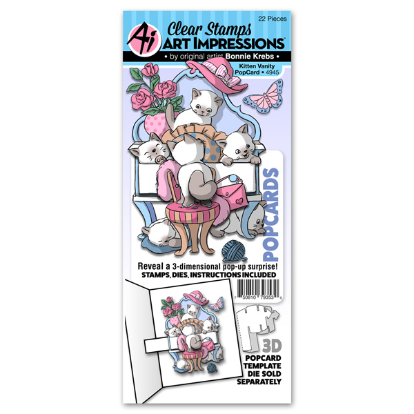 4945 - Kitten Vanity PopCard