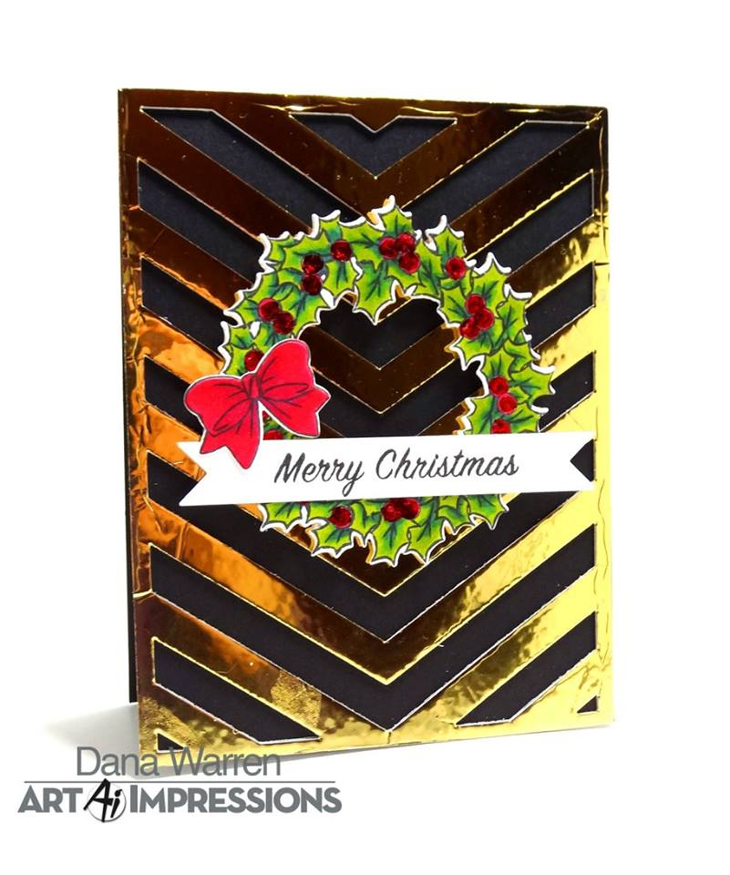 4791 Christmas Wreath Set Art Impressions