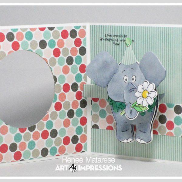 4856 - Elephant PopCard