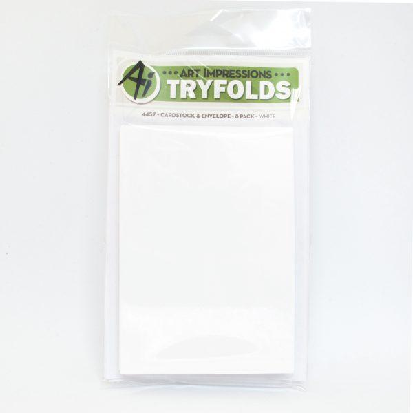 4457 - White - Cardstock & Envelope 8 Pack