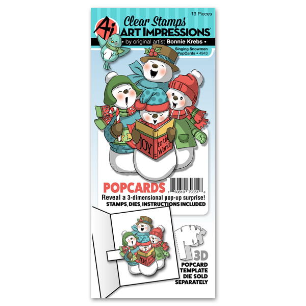4943 - Singing Snowmen PopCard
