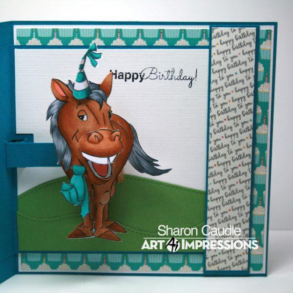 4861 - Horse PopCard