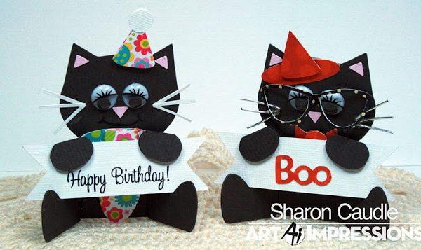 4805 - Cat & Owl Placecard Set
