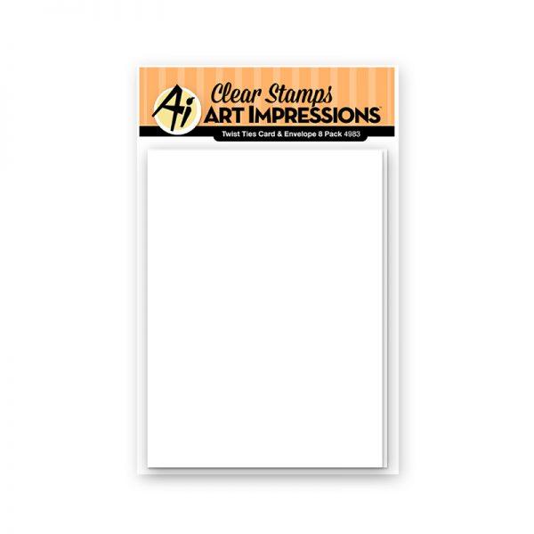 4983 - Twist Ties Card & Envelope 8 Pack