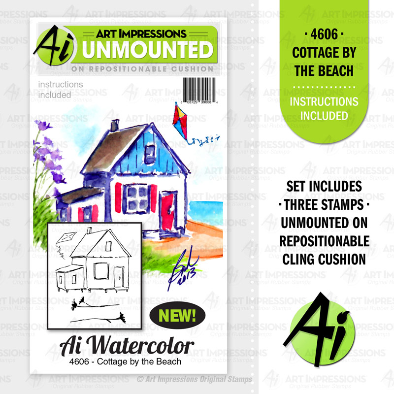 Art Impressions Cottage By the Beach Stamp set