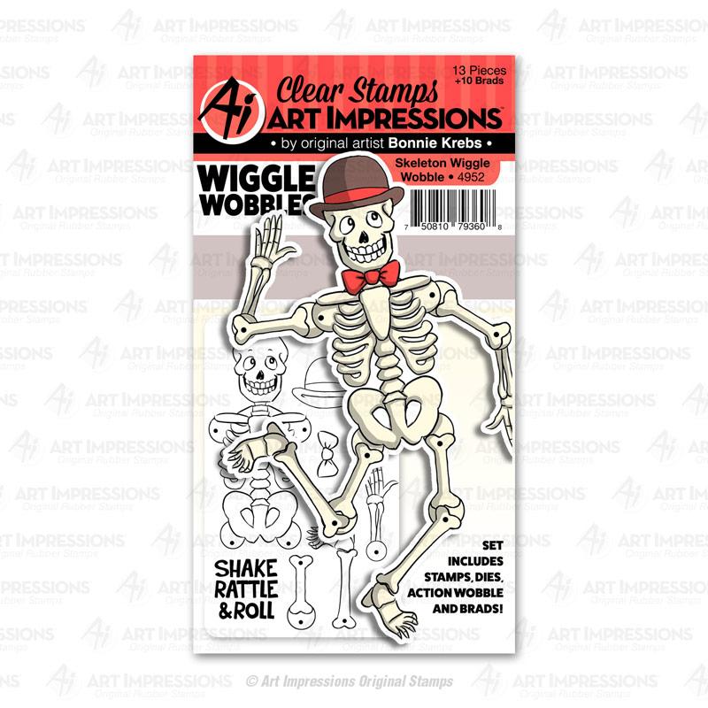 4952 Skeleton Wiggle Wobble Art Impressions