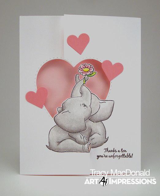 Art Impressions Twist Ties Stamp /& Die Set ELEPHANT TWIST 4985 NEW