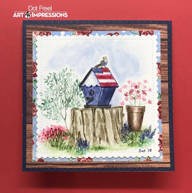 4603 blooming birdhouse art impressions rh artimpressions com birdhouse art birdhouse artist
