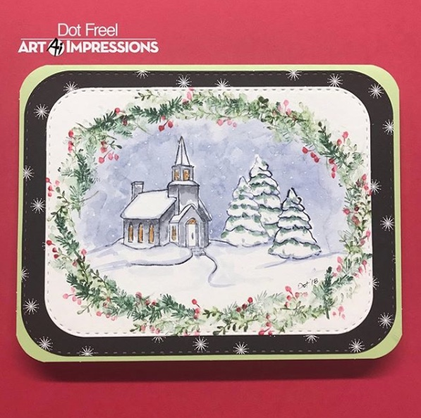 Art Impressions 5060 Watercolor Cling Rubber Stamps-Snowman
