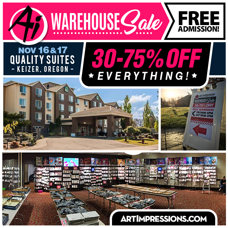 Ai Warehouse Sale! Nov. 16-17!