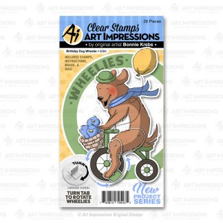 5094 - Birthday Dog Wheelie
