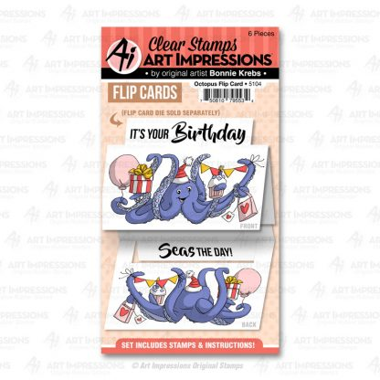 5104 - Octopus Flip Card