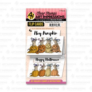 5182 - Pumpkin Mice Flip Card