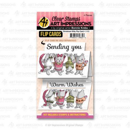 5183 - Christmas Kitty Flip Card