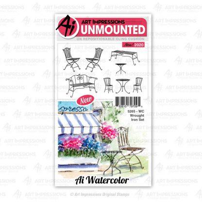 5265 - WC Wrought Iron Set